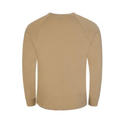 Beige Metropolis Series Diagonal Raised Fleece Sweatshirt