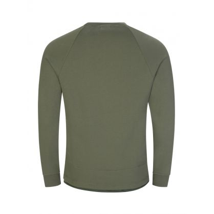 Green Metropolis Series Diagonal Raised Fleece Sweatshirt