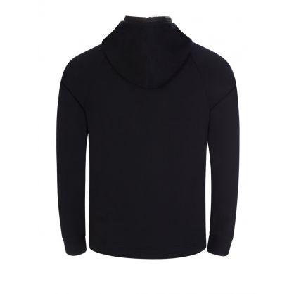 Black Hooded Zip-Through