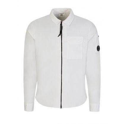 Cream Gabardine Overshirt