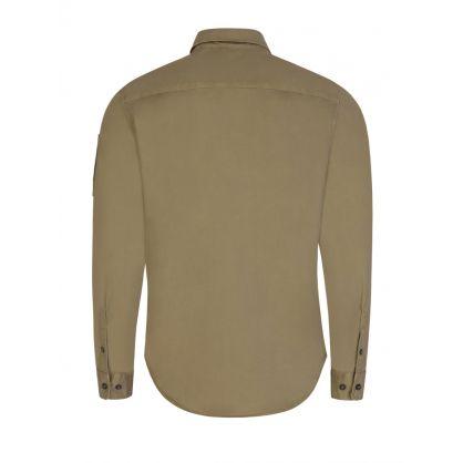 Green Gabardine Overshirt