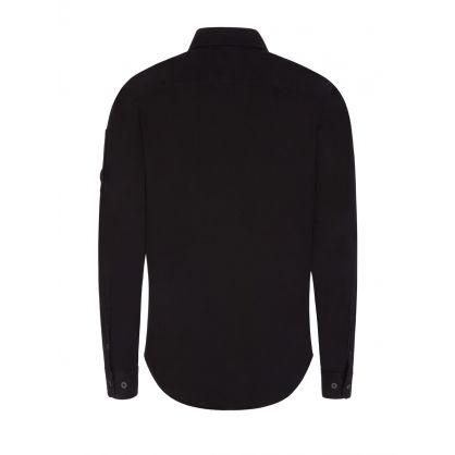 Black Gabardine Overshirt