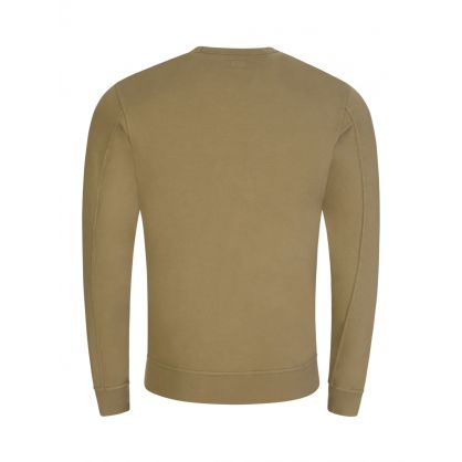 Beige Sleeve Pocket Sweatshirt