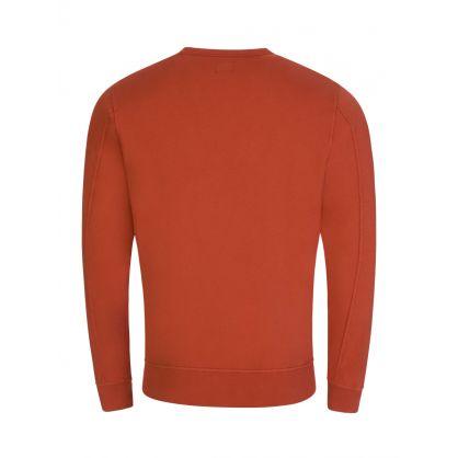 Orange Lightweight Fleece Sweatshirt