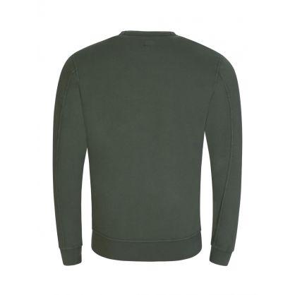 Green Sleeve Pocket Sweatshirt