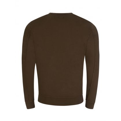 Dark Green Sleeve Pocket Sweatshirt