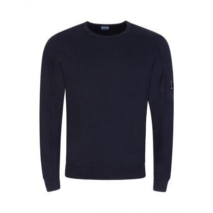 Navy Sleeve Pocket Sweatshirt