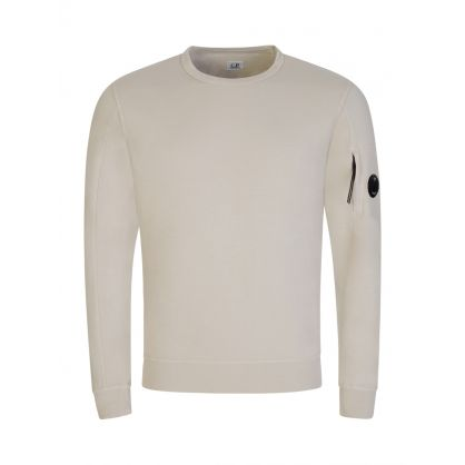 Beige Lightweight Fleece Sweatshirt