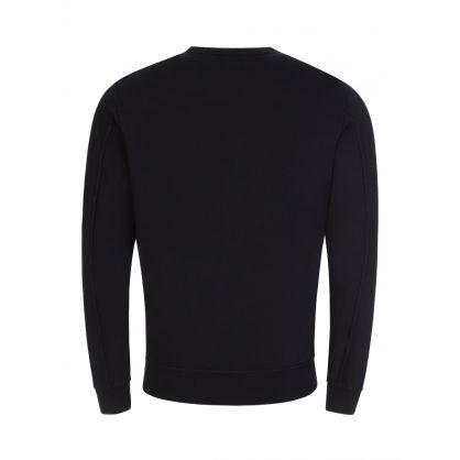 Black Lightweight Fleece Sweatshirt