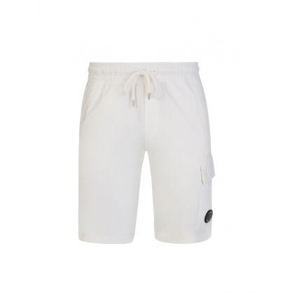 Cream Cargo Sweat Shorts