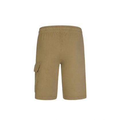 Light Green Bermuda Cargo Sweat Shorts