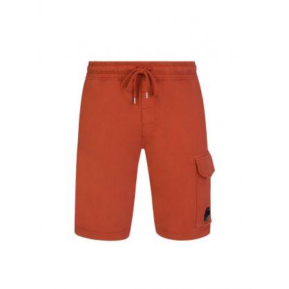 Orange Cargo Sweat Shorts