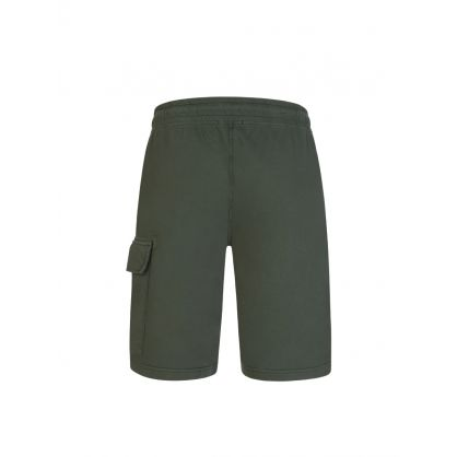 Dark Green Bermuda Cargo Sweat Shorts