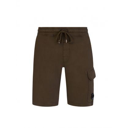 Mid Green Bermuda Cargo Sweat Shorts