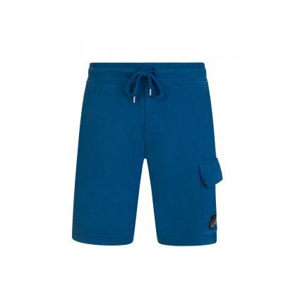 Blue Bermuda Cargo Sweat Shorts