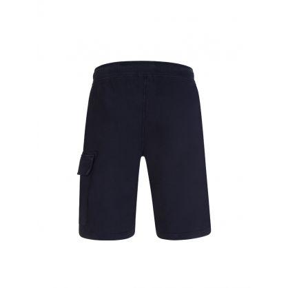 Navy Bermuda Cargo Sweat Shorts