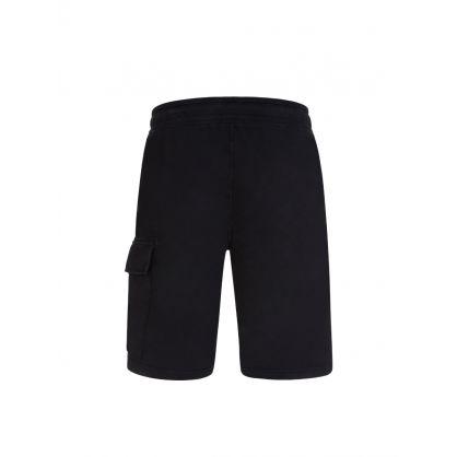 Black Bermuda Cargo Sweat Shorts