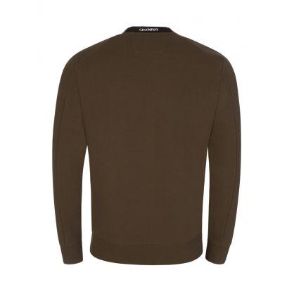 Green Diagonal Raised Fleece Sweatshirt