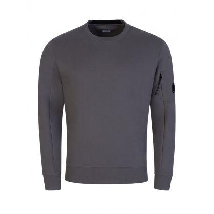 Dark Grey Diagonal Raised Fleece Sweatshirt