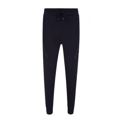 Navy Diagonal Fleece Sweatpants