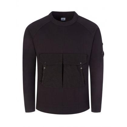 Black Heavy Jersey Sweatshirt