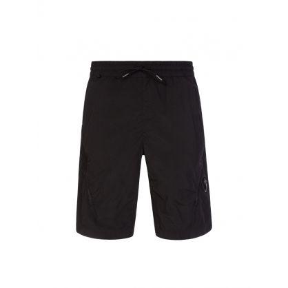 Black Double-Zip Cargo Shorts
