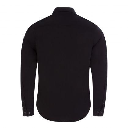 Black Gabardine Garment-Dyed Utility Shirt