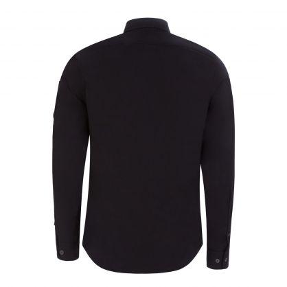 Black Gabardine Utility Shirt