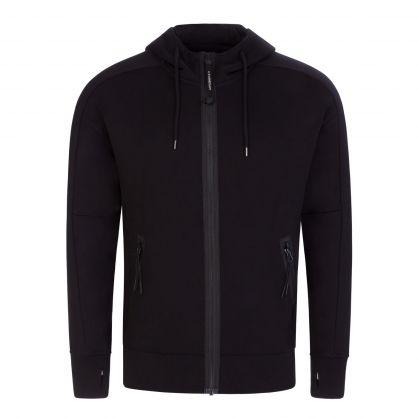 Black Fleece Zip-Through Goggles Hoodie