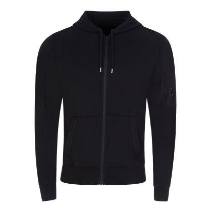 Black Light Fleece Zip-Through Hoodie