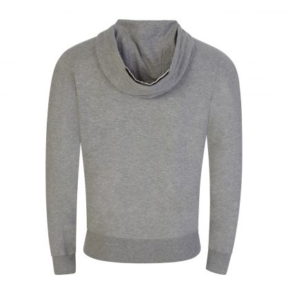 Grey Light Fleece Zip-Through Hoodie