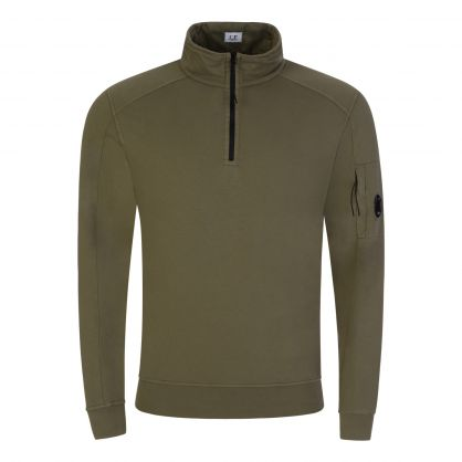 Green Lightweight 1/4 Zip Sweatshirt