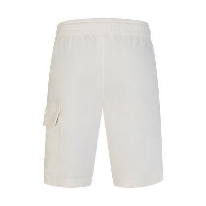 White Light Fleece Lens Cargo Shorts