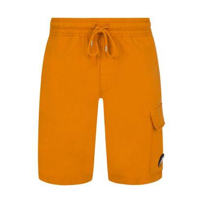 Orange Light Fleece Lens Cargo Shorts