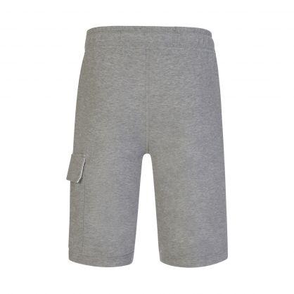 Grey Light Fleece Lens Cargo Shorts