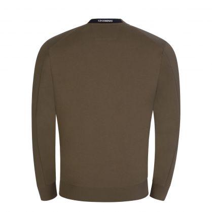 Green Fleece Collar Logo Sweatshirt