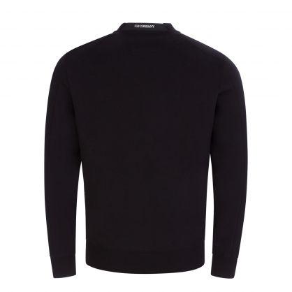 Black Fleece Collar Logo Sweatshirt