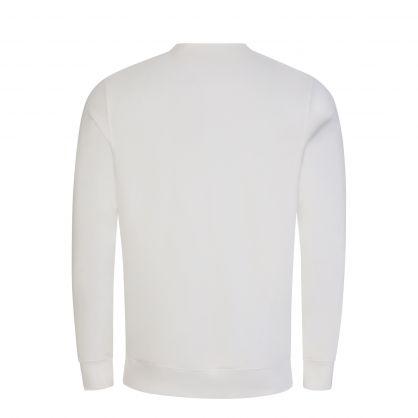White Diagonal Raised Fleece Logo Sweatshirt