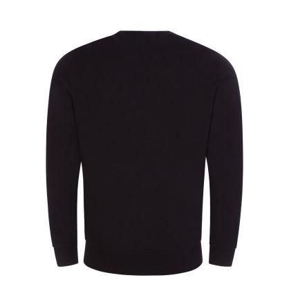 Black Diagonal Raised Fleece Logo Sweatshirt