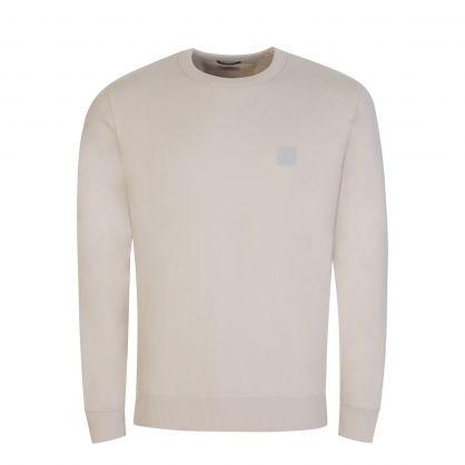 Beige Metropolis Series Fleece Sweatshirt