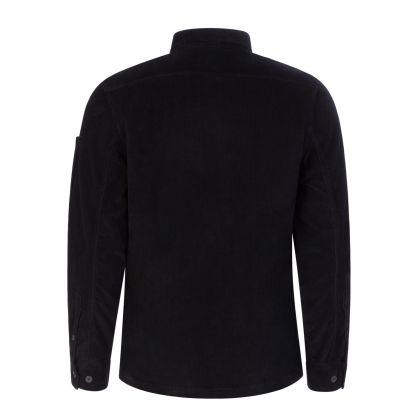 Black Stretch Corduroy Overshirt