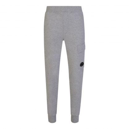 Grey Raised Fleece Cargo Sweatpants