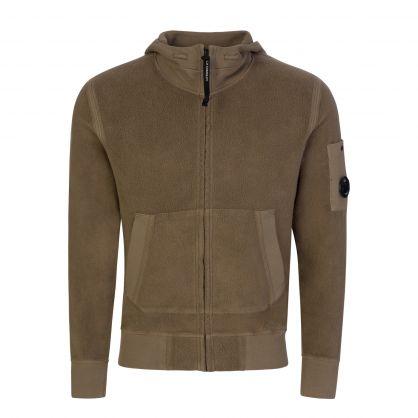 Green Polar Fleece Utility Hooded Zip-Through