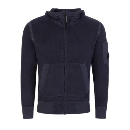 Navy Polar Fleece Utility Hooded Zip-Through