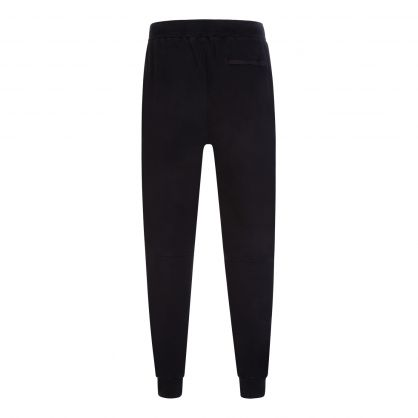 Black Diagonal Fleece Mixed Utility Sweatpants