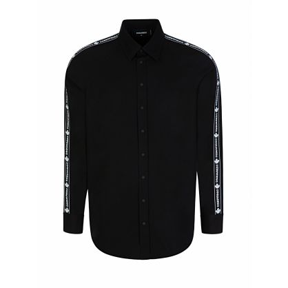 Black Logo Tape Shirt