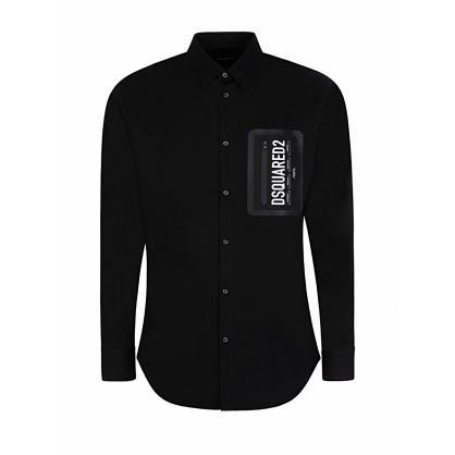 Black Chest Pocket Shirt