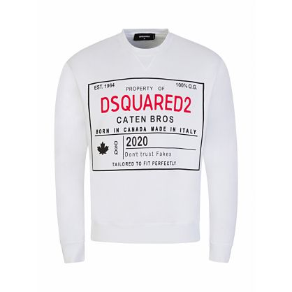 White Property Print Sweatshirt