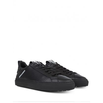 Black Neoprene Low-Top Trainers