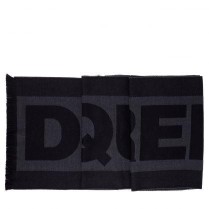 Black/Grey Logo Scarf